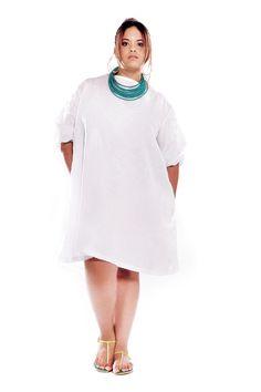JIBRI White Textured Shift Dress — JIBRI