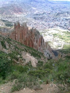 Canyon outside La Paz Bolivia