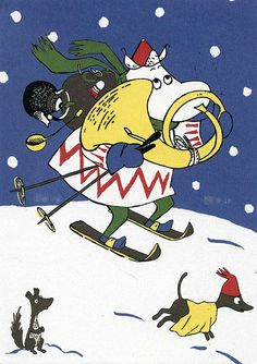 Moomin Christmas by ichabodhides, via Flickr
