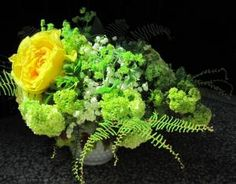 The greens in this arrangement look great
