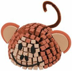 Fun Foam Friends 3D Mosaic Kit, Monkey by Darice. $0.01. Darice. Brand New Item / Unopened Product. 082676604058. 10615-65. DARICE-3D Mosaic Creatures. Create fun creatures with these 3-D mosaic kits! Collect all six. Using the photo as a guide simply peel and stick pieces together. Each kit contains one plastic form; more than 170 11 by 6 by 6mm self-adhesive mosaic foam pieces; googly eyes and assorted foam shapes for various features such as tails; ears; feet; mouths and ...