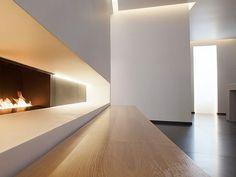 A bit of Anoushka Hempel minimalism in Bayswater for the cost-conscious design aficionado at La Suite West. Interior Exterior, Interior Architecture, Property Design, Contemporary Interior Design, Minimalist Interior, Interior Inspiration, Decoration, White Fireplace, House Design