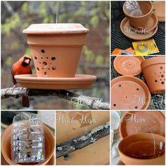 DIY Bird Feeder from Flower Pot