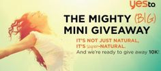 The Mighty Big Mini Giveaway from Yes To Carrots