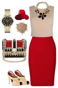 """""""Без названия #209"""" by kingcup ❤ liked on Polyvore featuring Roland Mouret, Alice + Olivia, Dsquared2, Giuseppe Zanotti, Valentino, Marc by Marc Jacobs and JINsoon"""