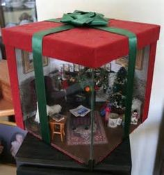miniatures christmas roomboxes - Bing images