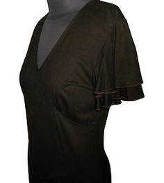 eBay Sale http://www.ebay.co.uk/itm/180964011653  Daks Brown Dress, - Viscose concealed back zip,     - Size 10.   Made in UK.