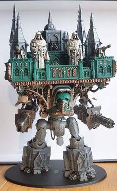 Gothic Titan with upper deck statues Warhammer 40k Art, Warhammer Models, Warhammer 40k Miniatures, Warhammer Fantasy, Gundam, Sapo Meme, Imperial Knight, Knight Art, Science Fiction Art