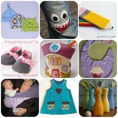 Tutorial e Cardamodelli di cucito per bambini: bavaglini, scarpette, giochi di pezza, cappellini e altro.