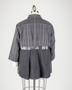 Upcycled man's shirt to woman's blouse by Michelle Paganini