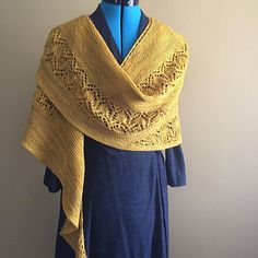Ravelry: TinerW'ss Here Comes the Sun shawl, knit in Zen Yarn Garden Serenity 20