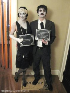Silent Film Star Halloween Costume for Couples