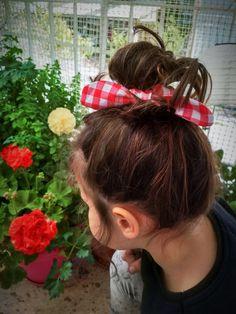 Hair scrunches bow - hair fabric accessories