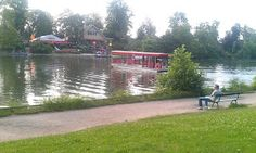 A run through the Bois de Boulogne park in Paris takes you past this lake with a ferry to the island-restaurant.