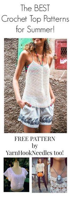 the BEST! Summer Crochet Top and Shirt Patterns - YarnHookNeedles -