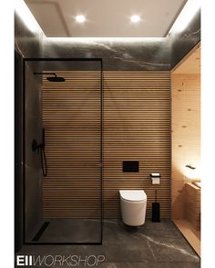 Sauna bathroom on Behance Bathroom Renos, Basement Bathroom, Bathroom Renovations, Small Bathroom, Modern Bathroom Design, Bathroom Interior Design, Sauna Shower, Home Spa Room, Sauna Design