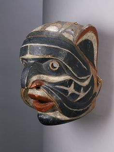 Nuxalk mask, Bella Coola, 1890 Museum of Anthropology UBC, Vancouver Native American Masks, Native American Beauty, American Indian Art, Tlingit, Inuit Art, Masks Art, Indigenous Art, Aboriginal Art, Sacred Art