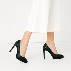 Image 1 of EMBOSSED LEATHER HIGH HEEL SHOES from Zara