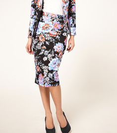 floral pencil skirt...