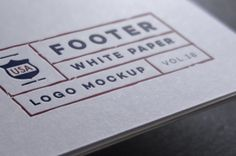 A paper seal brand psd logo mockup available in black and white paper with a…