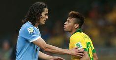 Uruguay y Brasil juegan por la eliminatoria a Rusia 2018. Quien gana? Guardate este PIN de Cavani y Neymar