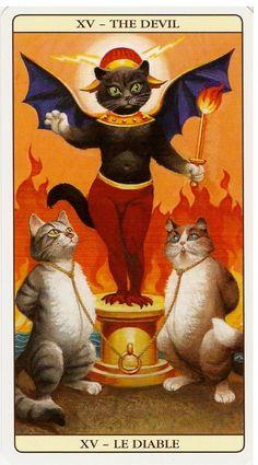 The Devil - Marseille Cat Tarot