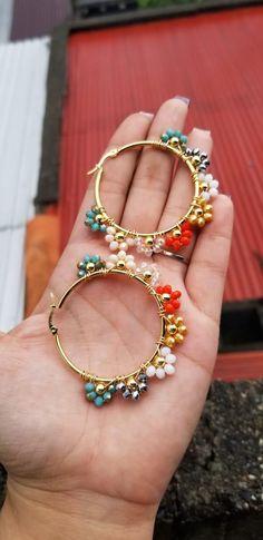 Handmade Wire Jewelry, Wire Wrapped Jewelry, Earrings Handmade, Bead Jewellery, Beaded Jewelry, Jewelery, Bijoux Diy, Jewelry Trends, Statement Jewelry