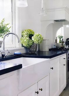 black counters + accents