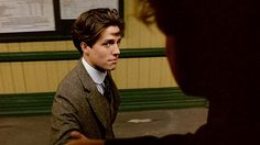 Clive wishes Maurice well as he heads home on the train after being expelled from Cambridge. Oscar Wilde, Bebe Daniels, Moonage Daydream, Rupert Graves, Hugh Grant, Star Pictures, British Men, Historical Fiction, Good Looking Men