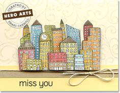 Hero Arts Cardmaking Idea: Miss You