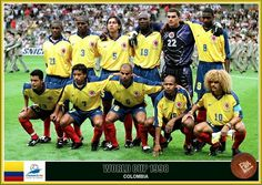 Colombia team group at the 1998 World Cup Finals.