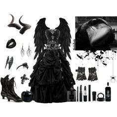 """(¯`·.(¯`·.(¯`Raven Queen´¯).·´¯).·´¯)"" by goth-dolly on Polyvore"