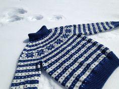ispinner og andre strikkepinner: Påskestrikk  Fanagenser med rundfelling og høy hals