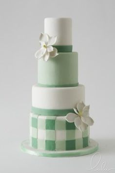 Mint wedding cake