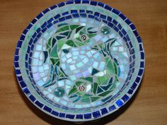 another view of the mosaic birdbath