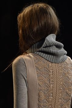 Intricate #embroidered details at the @BCBGMaxAzria #NYFW #MBFW #AW15 show make front row seats an even more coveted position