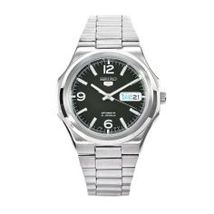 Seiko Men's SNKK57 5 Stainless Steel Green Dial Watch Seiko. $63.99. Scratch-resistant hardlex crystal. Green dial; Luminescent hands. Automatic movement. Water resistant. Stainless steel case and bracelet