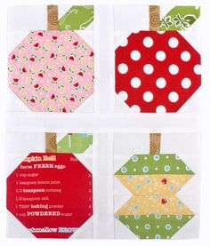 Apple blocks from the Quilty Fun Blog Tour & Sew Along