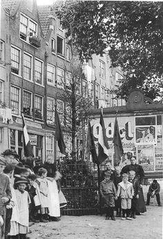 Amsterdam, Zandhoek bij de 'Oranjeboom'. Jacob Olie 1898