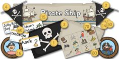 Twinkl Resources >> Pirate Ship Role Play Pack >> Classroom printables for Pre-School, Kindergarten, Elementary School and beyond! Pirate Coins, Pirate Treasure Maps, Pirate Maps, Pirate Theme, Vocabulary Cards, Pirate Activities, Map Activities, Pirates, Musica