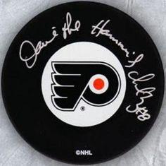 "Dave ""The Hammer"" Schultz Philadelphia Flyers signed hockey puck inscription COA by Your Sports Memorabilia Store. $29.99"