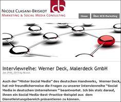 malerdeck als Social Media-Best-Practice-Beispiel aus dem Dienstleistungsbereich. Interview mit Werner Deck