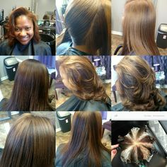Pin wheel color technique! Fun hair! Do you want to be blonde or brown today? Assuage hair and body