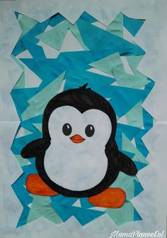 Craft tip: Make penguin on an ice floe from paper - Craft tip: Make penguin on an ice floe from paper - Dragon Fly Craft, Penguin Art, Winter Art Projects, Winter Fun, Winter Craft, Diy Crafts For Kids, Art Lessons, Snowman, Paper Crafts