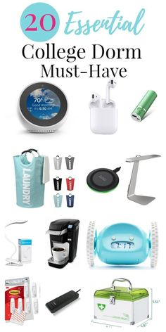 Things You NEED For College - Dorm Room Essentials Dorm room ideas for college dorm rooms - college packing checklist, University essentials and dorm rooms decorating ideas. The ultimate college packing lists and checklist. Dorm Room List, College Dorm List, College Dorm Checklist, College Packing Lists, College Dorm Essentials, College Dorm Rooms, Packing Hacks, College Hacks, College Life