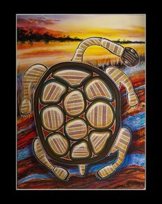Fusion Art is painted by Peter Edward using airbrush and ultra modern transparent pearl, metallic and chameleon paints to create a modern impressionist landscap Fusion Art, Dream Painting, Aboriginal Artists, Impressionist Landscape, Social Enterprise, Chameleon, Airbrush, Turtle, Metallic