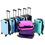 Goplus® GLOBALWAY 20″ ABS Carry On Luggage Travel Bag Trolley Suitcase
