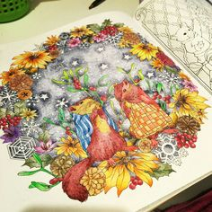 Colorido por Aline Marques, do livro Rhapsody in the Forest...lindo!!!!