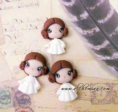 Mini princesas Léia. Kawaii