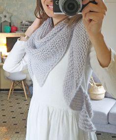My shawl in angora Crochet Shawls And Wraps, Knitted Shawls, Dou Dou, Girls Sweaters, Crochet Yarn, Lana, Knitting Patterns, Parfait, Blog